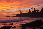 Sandstone Beach Framed Prints - Sunset off Laguna Beach Framed Print by Cliff Wassmann