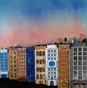 Robert Handler Art - Sunset on a Beautiful Block by Robert Handler