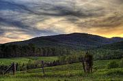 Landscape Digital Art Metal Prints - Sunset On Appleberry Mountain 2 Metal Print by Pete Hellmann