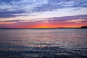 Stretched Canvas Prints - Sunset On Barnegat Bay I - Jersey Shore Print by Angie McKenzie