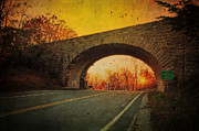Autumn Photographs Photo Prints - Sunset On Blue Ridge Parkway Print by Kathy Jennings