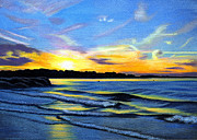 Sunset Paintings - Sunset on Cambridge Beach II by EJ Lefavour