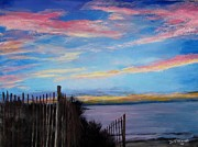 Jack Skinner Paintings - Sunset on Cape Cod Bay by Jack Skinner