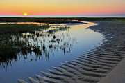 Salt Marsh Photos - Sunset on Cape Cod by Rick Berk