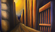 Building Painting Originals - Sunset on de Maisonneuve by Duane Gordon