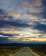 Asphalt Photos - Sunset on Highway in New Mexico by Jill Battaglia