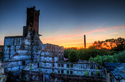 Frame House Photos - Sunset on Hotel Urbex by Nathan Wright