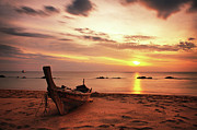 Sunset Reflection Prints - Sunset On Koh Lanta Print by Photography Aubrey Stoll