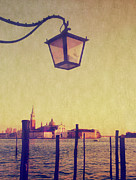 Wooden Building Posters - Sunset On Lagoo In Venice Poster by Marco Misuri