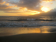 Golds Prints - Sunset on Maui Print by Marilyn Wilson