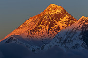 Temperature Posters - Sunset On Mount Everest Poster by Werner Van Steen