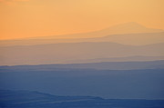 Spirituality Metal Prints - Sunset on mountains Metal Print by Sami Sarkis