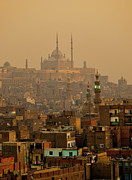 Place Of Worship Photos - Sunset On Old City, Cairo by Tom Horton, Further To Fly Photography