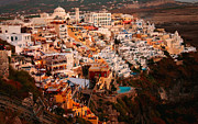 Thira Framed Prints - Sunset on Santorini Framed Print by Paul Cowan