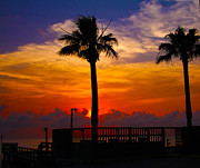 South Padre Island Texas Posters - Sunset on South Padre Island Poster by Western Roundup