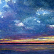 Battery Paintings - Sunset on the Battery by Tish Murphy