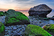 Long Island New York Prints - Sunset on the Beach at Horton Point Print by Rick Berk