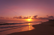 Sunrise Early Morning Posters - Sunset on the Beach Poster by Christian Heeb
