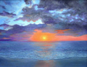 Bethany Windham Engle Art - Sunset On The Gulf by Bethany Windham Engle