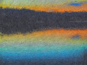 Sunset On The Lake Prints - Sunset On The Lake Print by Mike OBrien