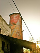 Feed Mill Photo Metal Prints - Sunset on the Mill Metal Print by Sheep McTavish
