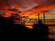 Natchez Prints - Sunset on the MIssisippi Print by Peggi Wolfe