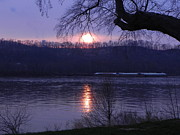 Sandy Owens - Sunset on the Ohio River