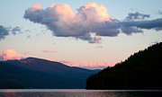 Blue Skys Framed Prints - Sunset on the Priest Lake Clouds Framed Print by David Patterson