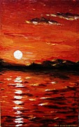 Muna Abdurrahman - Sunset on the sea