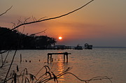 Sunset On The St. John's River Print by Tiffney Heaning