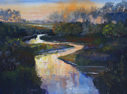 Northern Colorado Prints - Sunset on the St. Vrain Print by Heather Coen