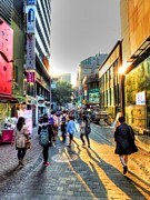 Sunset On The Streets Of Seoul Print by Michael Garyet