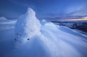 Sunset In Norway Photo Prints - Sunset On The Summit Toviktinden Print by Arild Heitmann
