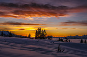 Squamish Framed Prints - Sunset on the Tantalus Framed Print by Ian Stotesbury