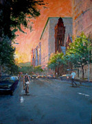 Peter Salwen - Sunset on West 86th...