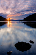 Scenic Idaho Prints - Sunset on Wolf Lodge Bay Print by Idaho Scenic Images Linda Lantzy