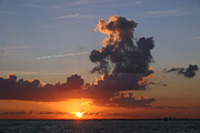 Caribbean Sea Metal Prints - Sunset over Biscayne Bay Metal Print by Matt Tilghman