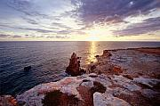 Sunset Over Cabo Rojo Puerto Rico Print by George Oze