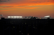 Ballgame Prints - Sunset over Camden Yards Baltimore Print by Marianne Campolongo