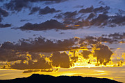 Fort Collins Posters - Sunset over Horsetooth Rock Poster by Harry Strharsky