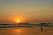 Warm Colors Prints - Sunset over La Jolla Shores Print by Christine Till