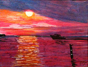 Michigan Pastels - Sunset over Lake Michigan by Jason Sotzen