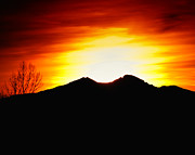 Larimer County Art - Sunset over Longs Peak by Harry Strharsky