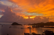 Sunset Over Lubuan Bajo Print by Raymond Uzanas