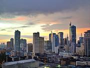 Sunset Over  Makati City, Manila Print by Neil Howard