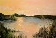 Graves Paintings - Sunset Over Marsh by Lisa Graves