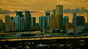 Ronald  Bell - sunset over Miami 350
