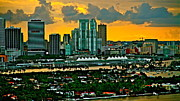 Ronald  Bell - sunset over Miami 450