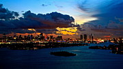 Ronald  Bell - Sunset over Miami 650