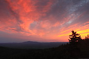 Monadnock Region Posters - Sunset over Mount Monadnock from North Pack Poster by John Burk